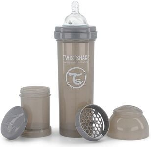 Twistshake Anti-Koliikki Tuttipullo 330 ml, Pastel Grey