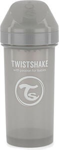 Twistshake Kid Nokkamuki 360 ml 6+ kk, Pastel Grey