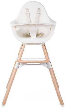 Childhome Evolu One 80° Syöttötuoli 2-in-1, Natural White