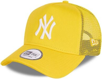 New Era NYY Tonal Mesh Trucker Lippalakki, Yellow