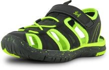 Leaf Salo Sandaalit, Black/Lime