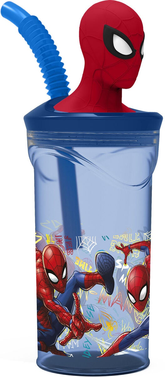 Marvel Spider-Man Juomalasi Pillillä 350 ml