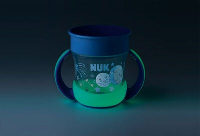 NUK Evolution Mini Magic Glow In The Dark Muki, Sininen