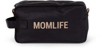 Childhome Mom Life Toilettilaukku, Black/Gold