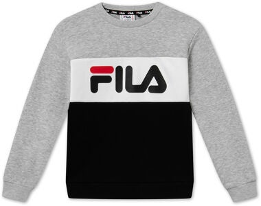 FILA Night Blocked Crew Collegepaita, Light Grey Melange