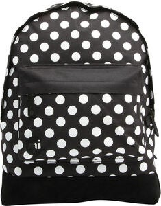Mi-Pac All Polka Reppu, Black/White