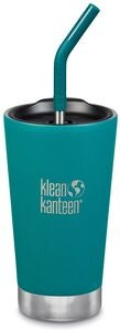 Klean Kanteen Insulated Tumbler Termosmuki 473 ml + Pillikansi, Emerald Bay