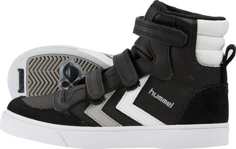 Hummel Stadil Jr Leather High Tennarit, Black/White/Grey