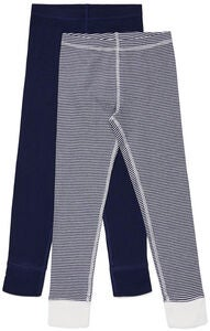 Luca & Lola Omero Kalsarit 2-pack, Navy/Stripes
