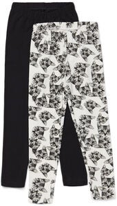 Luca & Lola Agata Leggingsit 2-pack, Black/Cats