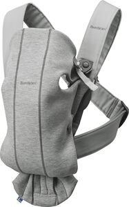 BabyBjörn Mini 3D Jersey Kantoreppu, Light Grey