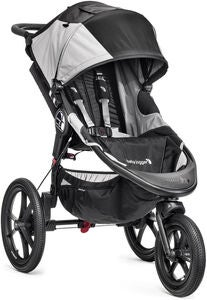 Baby Jogger Summit X3 Single Juoksurattaat, Black/Grey