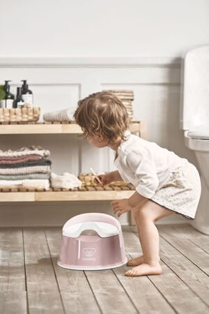 BabyBjörn Smart Potta, Powder Pink/White