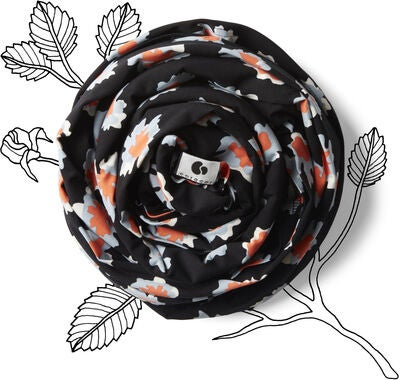 Coracor Kantoliina Abstract Flower, Black