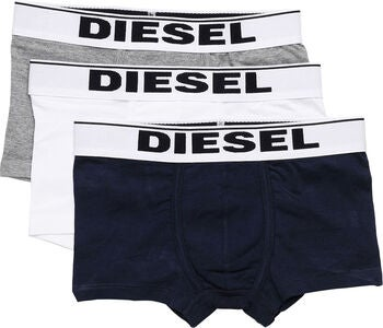 Diesel UMBX Damien Bokserit 3-Pack, Grey Melange/Dark Blue/White