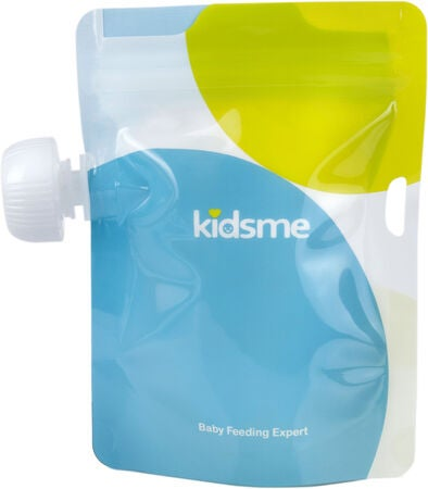 Kidsme Reuseable Food Pouch Annospussit, 4x180ml + Adapteri