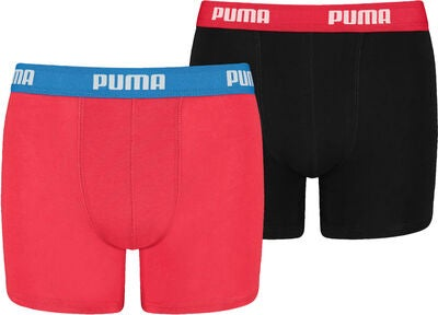 Puma Basic 2-Pack Bokserit, Red/Black