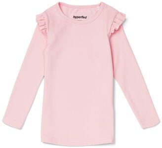 Hyperfied Frill Sleeve Top, Chalk Pink