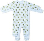 Tiny Treasure Maxime Jumpsuitit 2-pack, Baby Blue