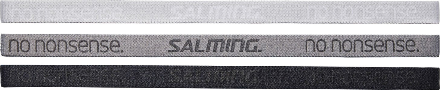Salming Hiuslenkit 3-pack, Cloud/Stone/Black