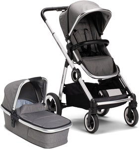 Beemoo Twin Travel+ 2020 Yhdistelmävaunut, Dark Grey