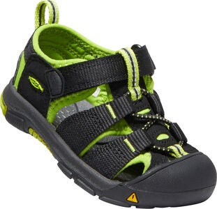 KEEN Newport H2 Toddlers Sandaalit, Black/Lime Green