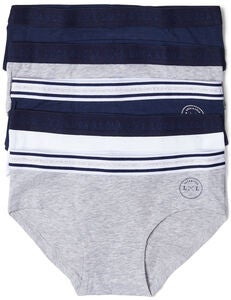 Luca & Lola Claudia Hipsterit 5-pack, Navy/Grey
