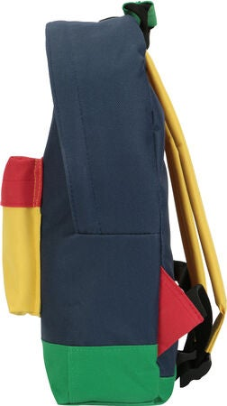 Mi-Pac Mini Colour Block Reppu, Navy/Pastel Yellow