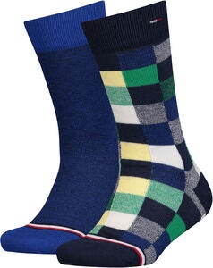 Tommy Hilfiger Blocks Sukat 2-pack, Blue/Green