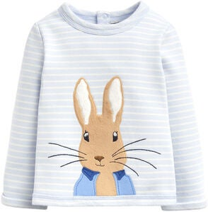 Tom Joule Dash Applique Paita, Blue Stripe Peter Rabbit