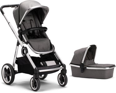 Beemoo Twin Travel+ 2019 Yhdistelmävaunut, Dark Grey
