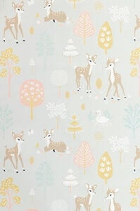 Majvillan Tapetti Golden Woods, Soft Grey
