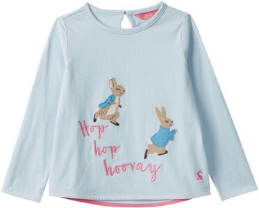 Tom Joule Ava Applique Paita, Blue Hopping Peter