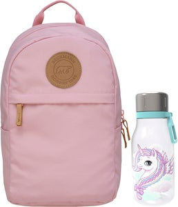 Beckmann Reppu Mini Urban 10L + Juomapullo, Light Pink