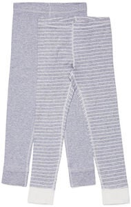 Luca & Lola Omero Kalsarit 2-pack, Grey/Stripes