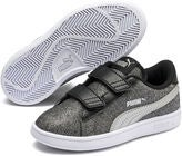 Puma Smash V2 Glitz Glam V PS Tennarit, Black/Silver