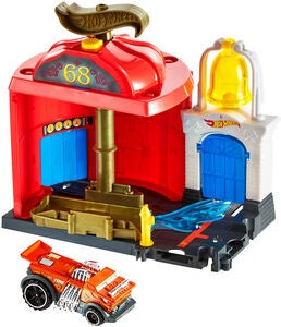 Hot Wheels City Downtown Leikkisetti Fire Station Spinout