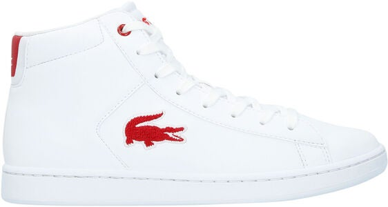 Lacoste Carnaby Evo Mid 3181 Kengät, White/Red