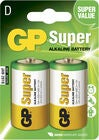 GP Super Alkaline D-Paristot 13A LR14 2-pack