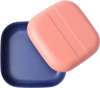 Ekobo Go Duo Color Snack Box, Coral/Royal Blue