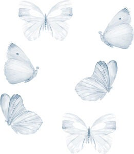 That's Mine Sisustustarra Butterfly 6-pack, Blue
