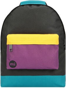 Mi-Pac Mini Colour Block Reppu, Black/True Plum