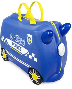 Trunki Percy The Police Car Matkalaukku 18L, Blue