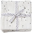 Done By Deer Musliiniliinat Dreamy Dots 2-pack, White