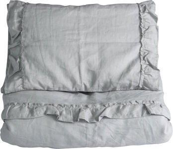 NG Baby Pussilakanasetti 80x70 Mood Ruffles, Light Grey