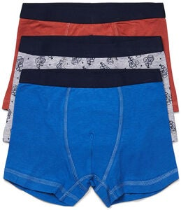 Luca & Lola Giacomo Bokserit 3-pack, Blue/Orange