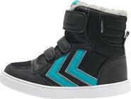 Hummel Stadil Poly Mid Jr Tennarit, Black/Lake Blue