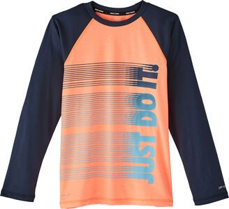 Nike Swim Heather UV-Paita, Orange Pulse