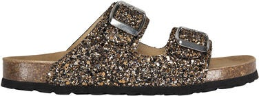Petit by Sofie Schnoor Glitter Sandaalit, Black Gold