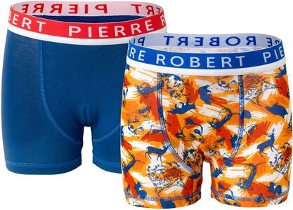 Pierre Robert Kids Boxer 2-pack, Orange/Blue